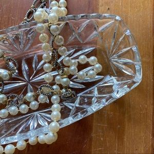 Vintage Clear Crystal Dish